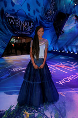 "Cast member Reid poses at the premiere of ""A Wrinkle in Time"" in Los Angeles"