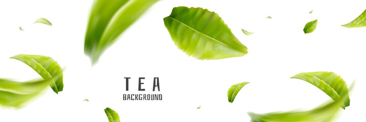 Flying tea background