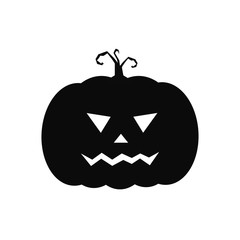 halloween pumpkin icon. cute black Halloween silhouettes.