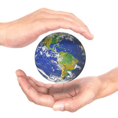 Hands concept save earth