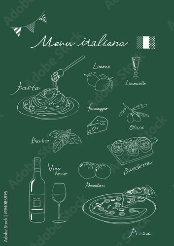 イタリアン イラスト 黒板風fotoliacom の ストック画像とロイヤリティ