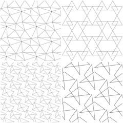 Geometric patterns. Black elements on white backgrounds