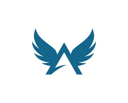 A letter Wing Logo Template