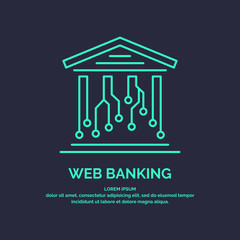 Web banking for cryptocurrency. Global Digital technologies.