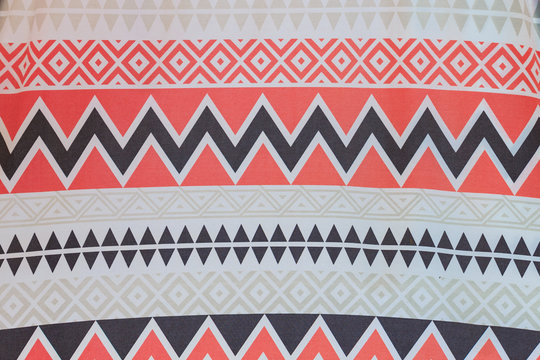 Abstract color and line indian camp style.