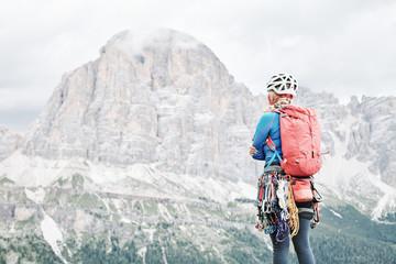 Climber near Tofana di Rozes