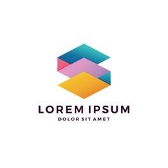 s letter paper art logo vector download