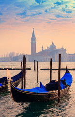Deurstickers Venetie View on the lagoon and the island of San Giorgio Maggiore, from St. Mark's Square