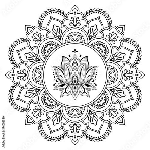 Circular Pattern In The Form Of A Mandala Henna Tatoo Mehndi Style
