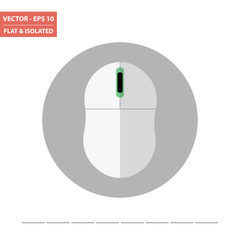 Computer mouse flat icon isolated. Vector Illustration.
