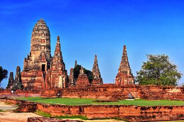 Wat Chaiwatthanaram, a Buddhist temple in Ayutthaya, Thailand