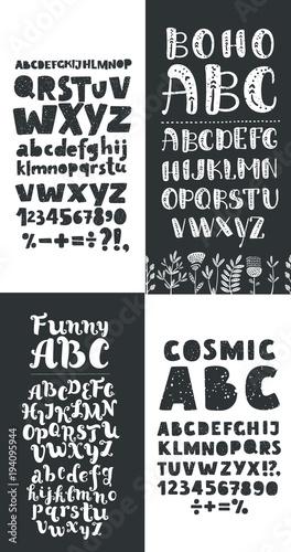 Calligraphic vector script font  Handwritten brush style