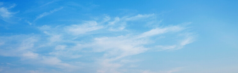 panorama view of blue sky and white clouds