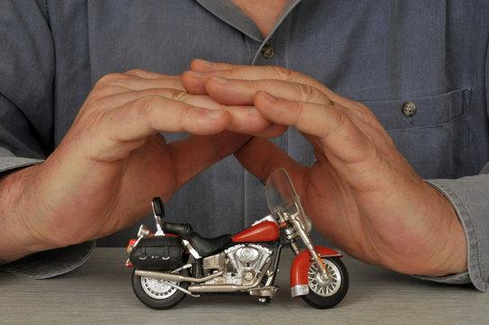 Concept d'assurance moto