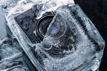 Vintage frozen ice camera