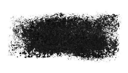 Breiter isolierter Pinsel Streifen mit schwarzer Farbe