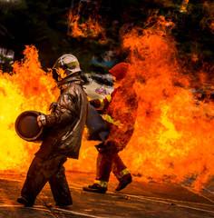Foto op Textielframe Grandfailure Firefighting Equipment and Practice