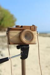 パパ手作り木製カメラ