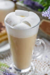Latte with marshmallows