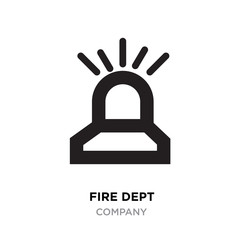 fire dept logo,signal linear Illustration isolated on white background