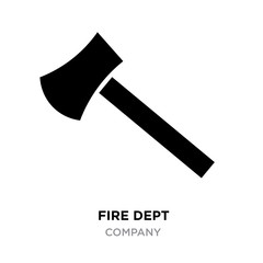 fire dept logo, Vector Illustration, axe icon isolated on background