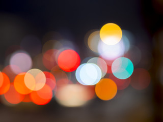 camera lens bokeh effect with traffic light