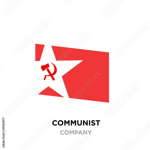 Communist Logoussr Communism Icon With Red Hammer And Sickle