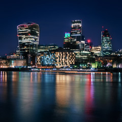 Night Lights on the River Thames