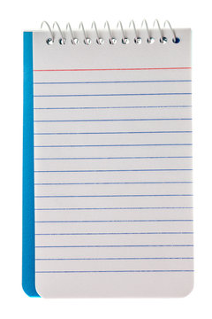 Blank Spiral Lined Notepad