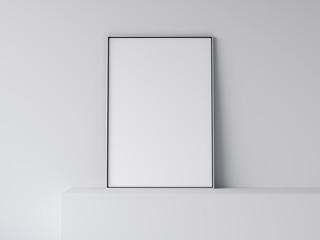 White blank poster. 3d rendering