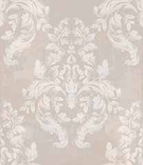 Royal ornament fabric background. Damask pattern texture Vector. Luxury background decors