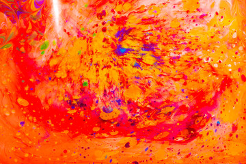 Abstract paint  patterns on colorful background