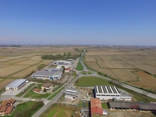 zona industriale vista aerea