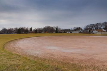 Baseball field in a Chicago suburban park