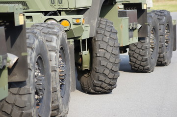 Military trucks and their tires