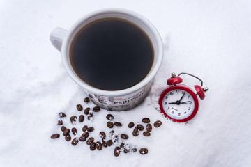 Winter morning coffee 1