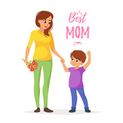 Mother's day greeting card template