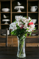 Bouquet of Flowers on DIning Room table