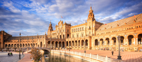 Plaza de Espana (Spain square) in Seville, Andalusia