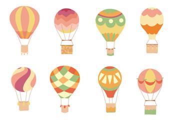 Set of vector  hot air balloons