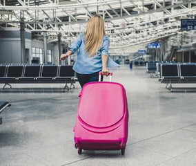 Young woman in airport