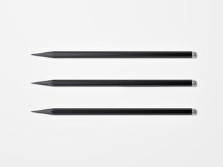 Three black pencils. 3d rendering