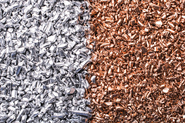 Silber & Kupfer Granulat Nahaufnahme