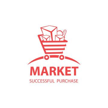 vector logo market shopping