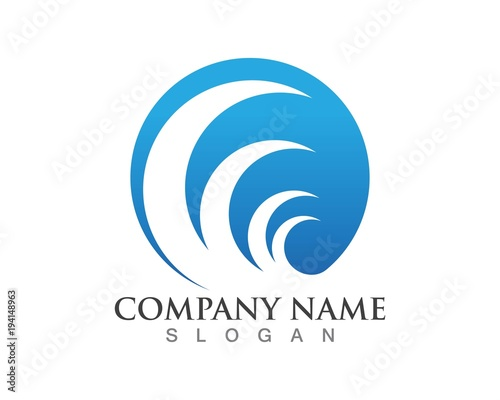 wave logos template and symbols stock image and royalty free vector