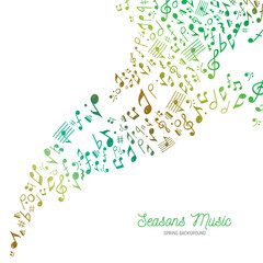 Music Background in Spring Colors