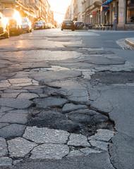 Marode Straßen