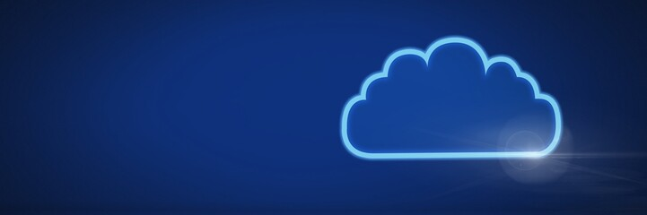 cloud icon with blue background