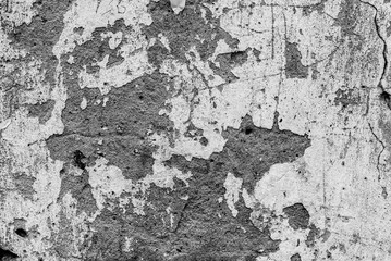 Fotobehang Oude vuile getextureerde muur Wall fragment with scratches and cracks