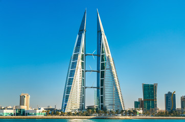 Bahrain World Trade Center in Manama. The Middle East